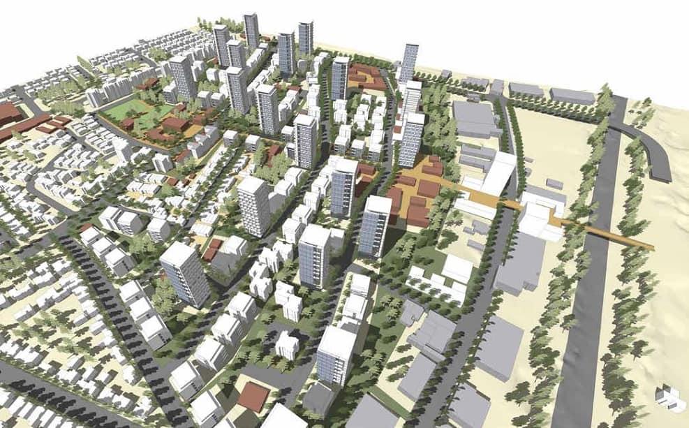 הדמיית מתחם רמת אליהו ראשלצ // נעמה מליס אדריכלות ובינוי ערים