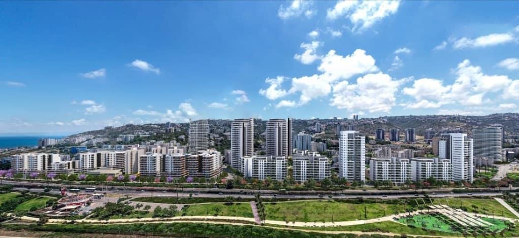פינוי בינוי בחיפה | מתחם שער העלייה בשכונות החוף של חיפה // הדמיה: olin