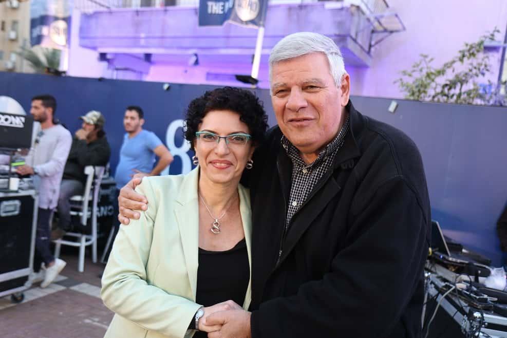 עינת גנון וצביקה גנדלמן // צילום: שלומי גבאי, עיריית חדרה