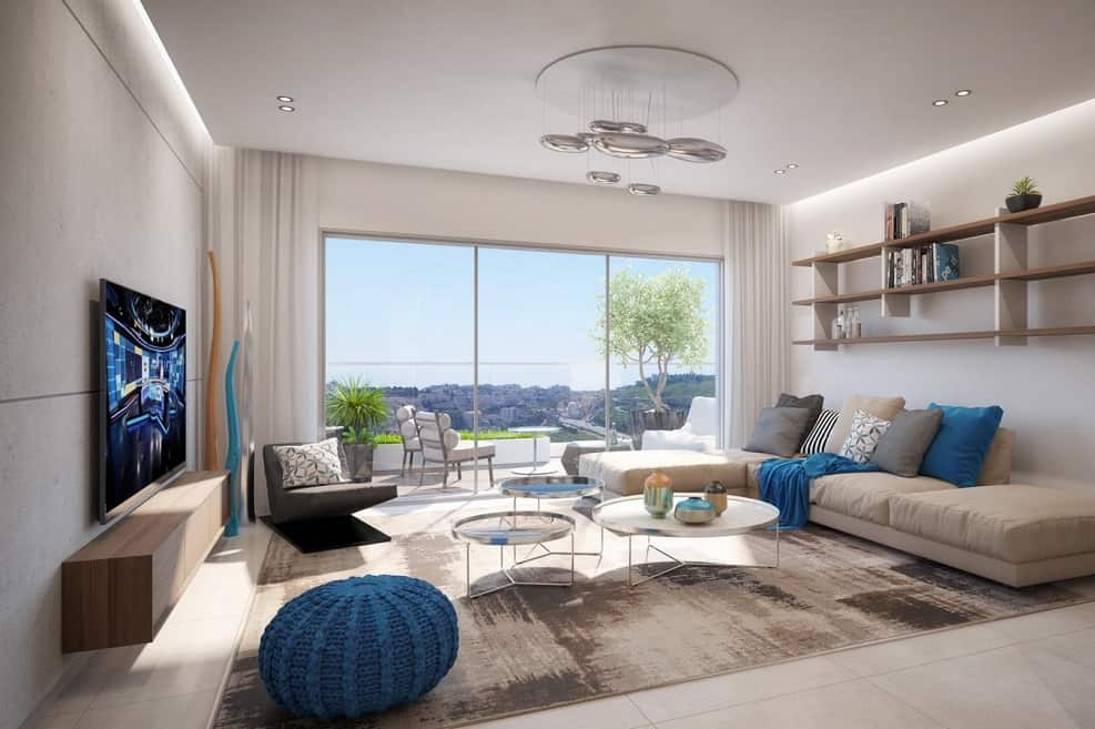 הדמיית דירת 5 חדרים בפרויקט צרפתי בפסגה של חברת צרפתי שמעון // הדמיה: וויופוינט