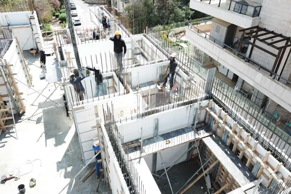 פרויקט באחד העם ירושלים // באדיבות חברת רינגל בניין ופיתוח
