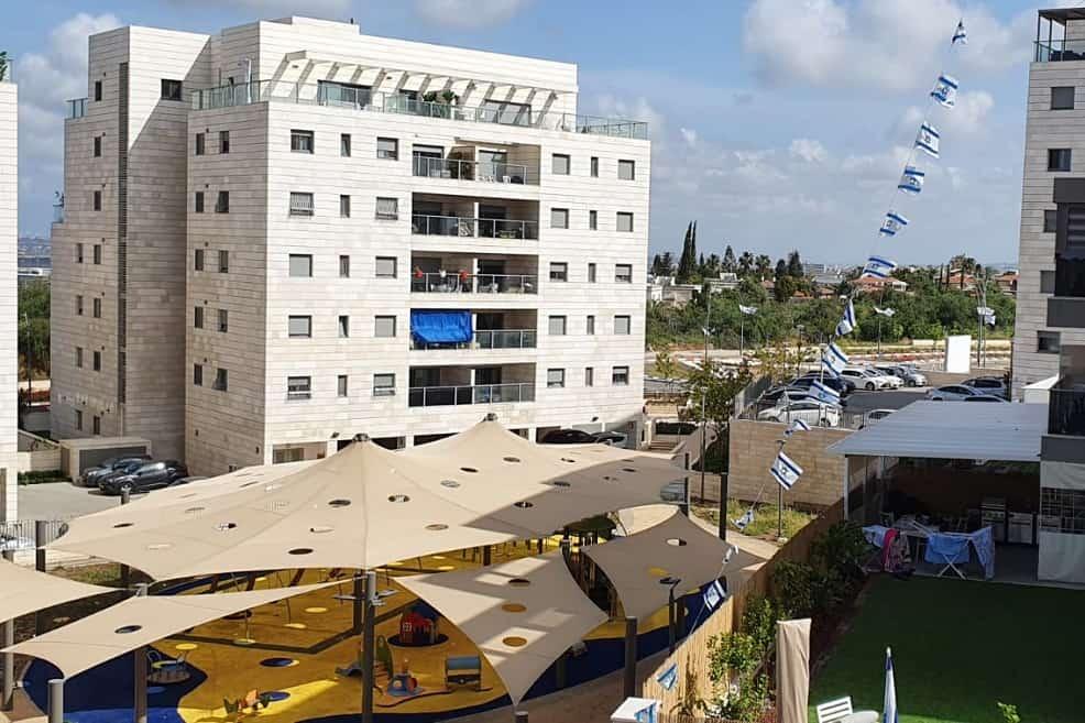 נוף ממרפסת בפרויקט יורו בראש העין של חברת יורו ישראל // צילום: יורו ישראל