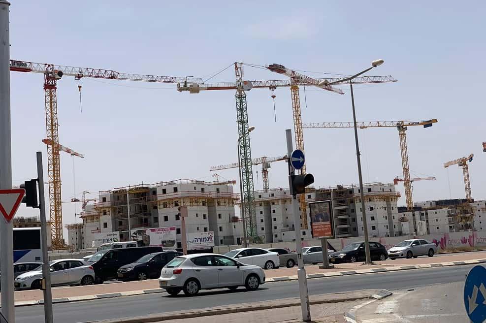 אתרי בנייה בנגב // באדיבות ארגון קבלני הנגב