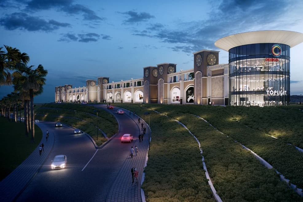 הדמיית דיזיין סיטי מישור אדומים של קס גרופ // אדריכל שלמה גרטנר