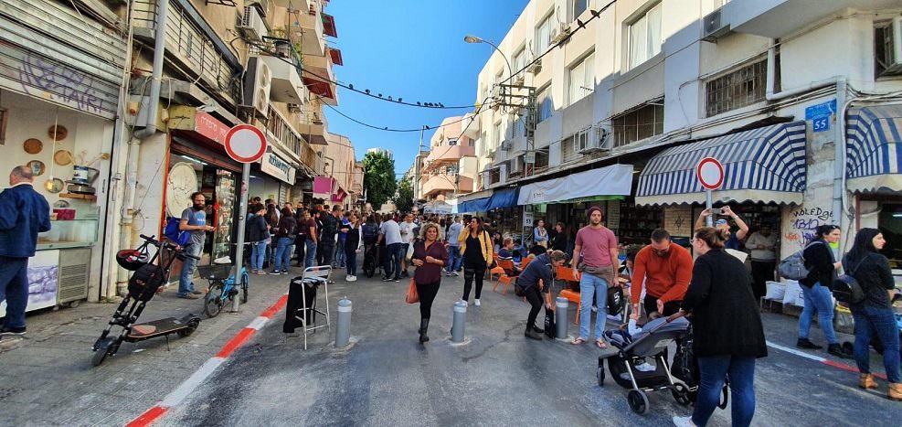 המדרחוב ברח' לוינסקי // באדיבות דוברות העירייה
