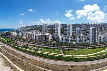 פרויקט התחדשות עירונית של חברת יוסי אברהמי ונקסט אורבן בחיפה // הדמייה: OLIN