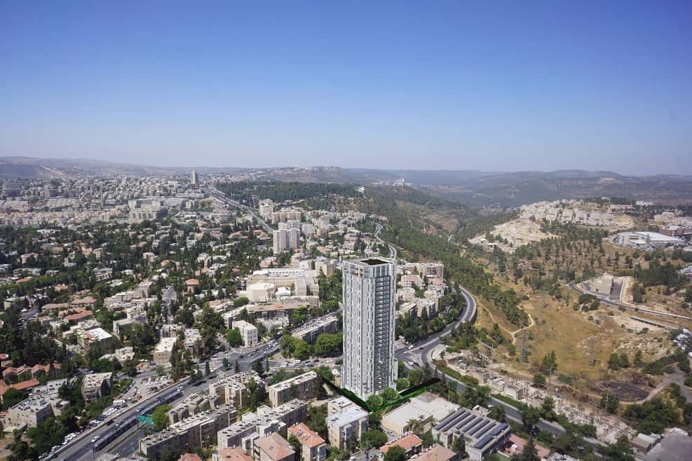 פרויקט התחדשות עירונית של משהב בתכנון טיטו // הדמייה: טיט אומן אדריכלים