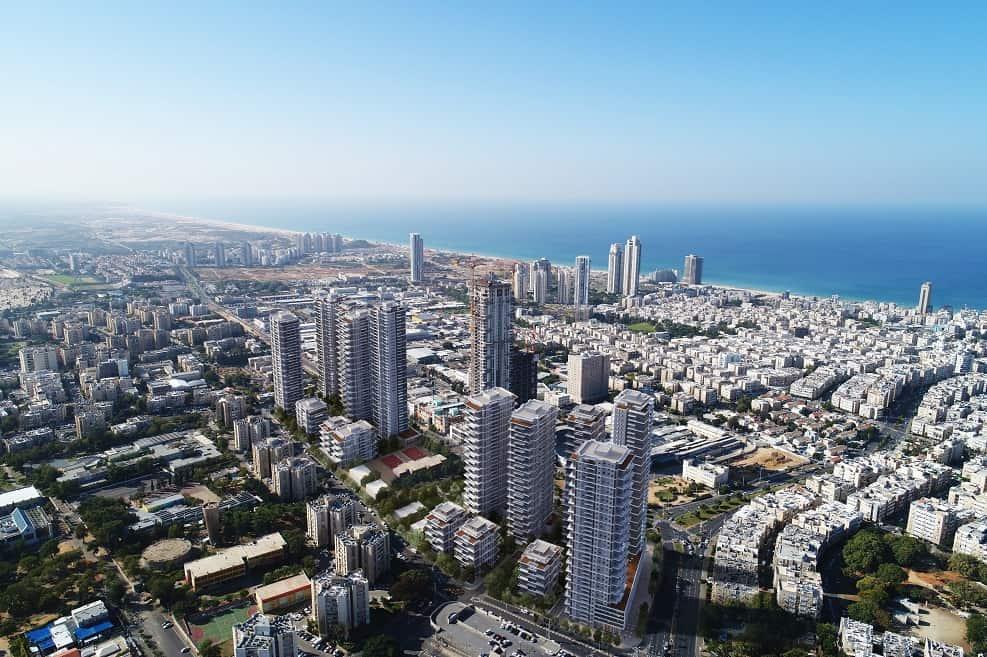 הדמיית פרויקט הרב לוי ניסנבאום בת ים // משרד צפור אדריכלים ומתכנני ערים
