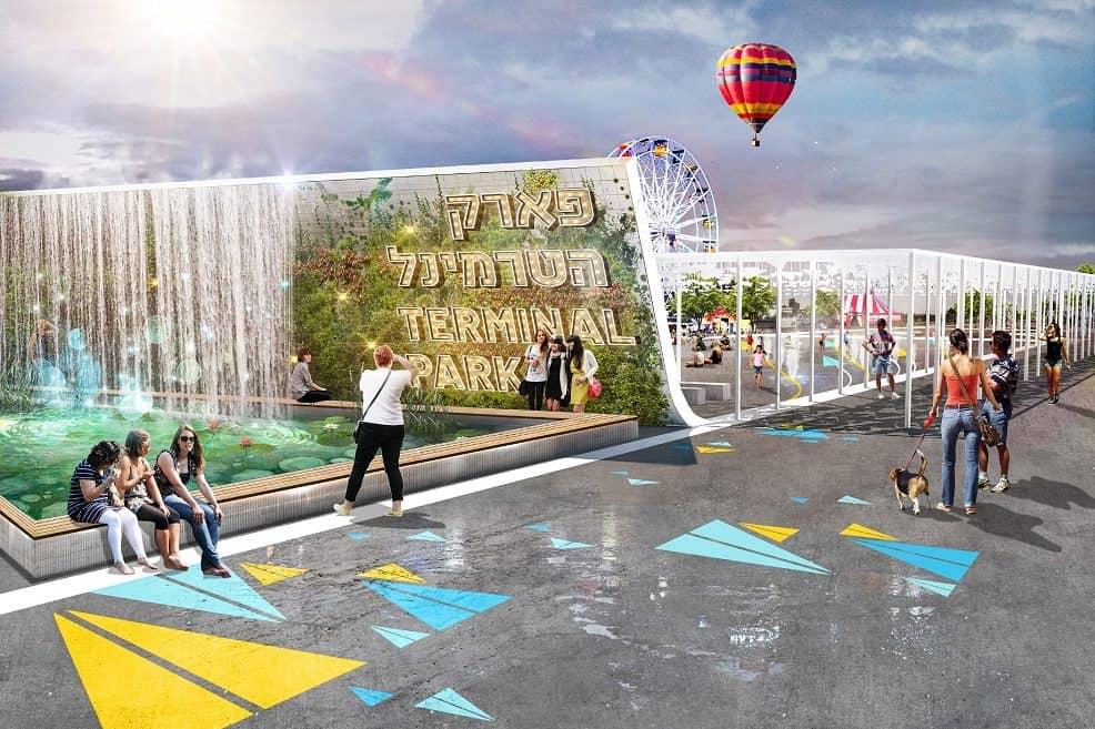 הדמיית פארק הטרמינל אילת // תכנון והדמיה דרמן ורבקל אדריכלות