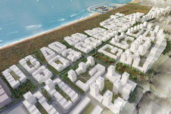 הדמיה תוכנית חוף התכלת // קרדיט: קייזר אדריכלים