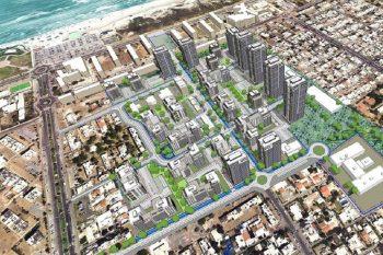 """הדמיה: תכנית התחדשות עירונית במתחם אג""""ש בקריית ים // קרדיט: גורדון-אדריכלים-ומתכנני-ערים"""