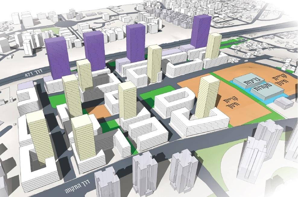 הדמיית גני תקווה צפון // נעמה מליס, אדריכלות ובינוי ערים