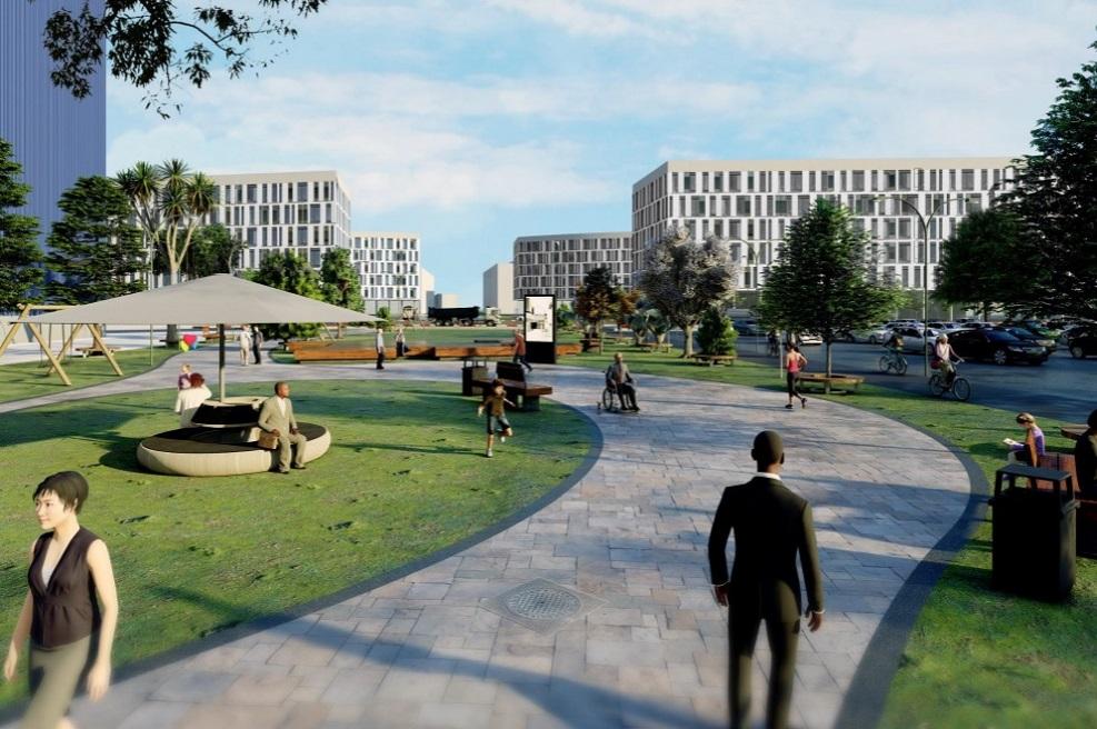 פארק תעסוקה קיסריה // הדמיה באדיבות מינהל התכנון