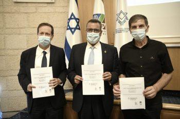 חתימה על הסכם קקל הסוכנות היהודית // צילום: אבי חיון