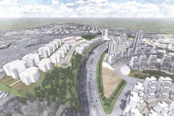 הדמיה התכנית שכונת ארנונה ירושלים // לשכת התכנון מחוז ירושלים