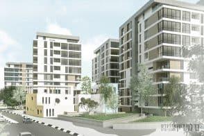 הדמיית פינוי בינוי בכפר יונה // בר לוי דיין אדריכלים ומתכנני ערים