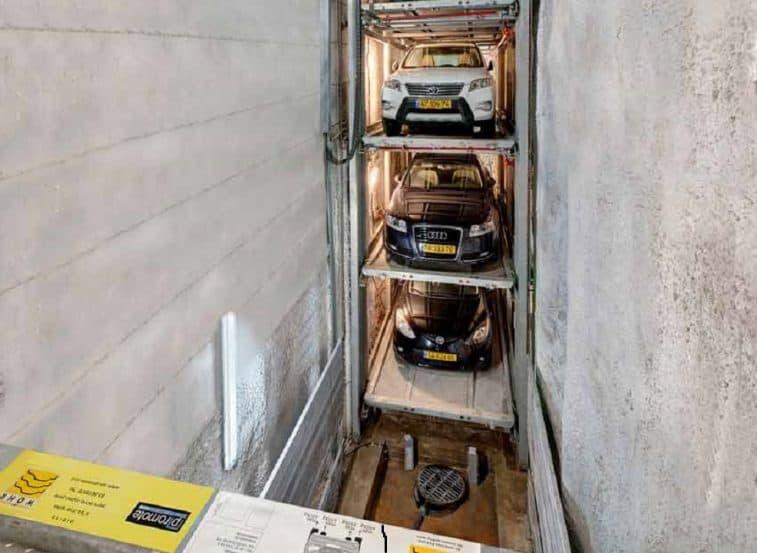 מתקן חניה רובוטי תל אביב // פרומוט מתקני חניה