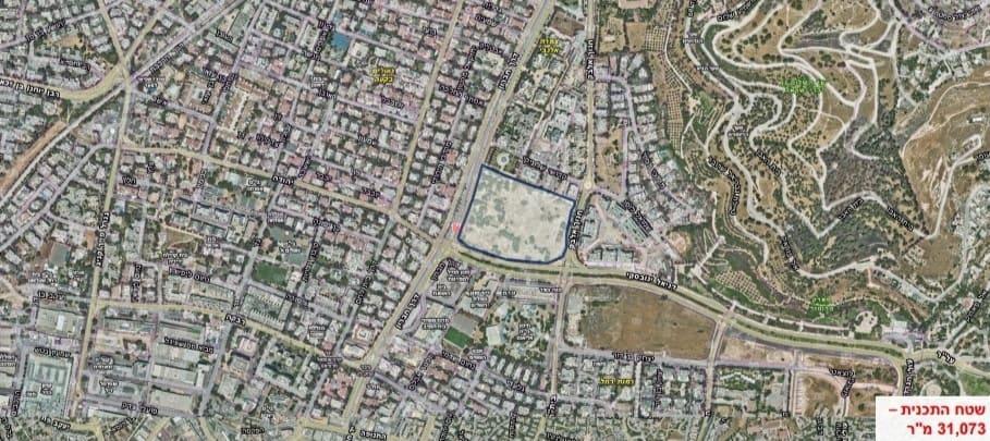 צילום אויר - שטח תוכנית 2 // באדיבות דוברות העירייה