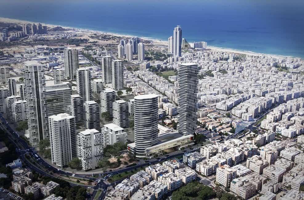 הדמיית אזור העסקים בת ים // באדיבות עיריית בת ים
