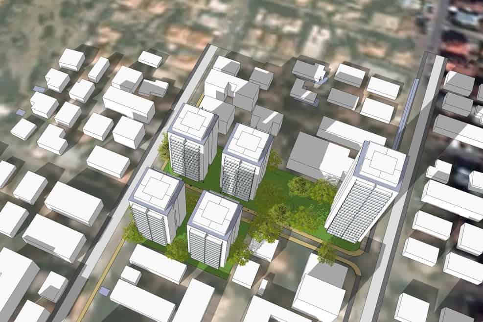 הדמיית תוכנית רחוב העלייה השנייה חדרה // אנדרמן אדריכלים