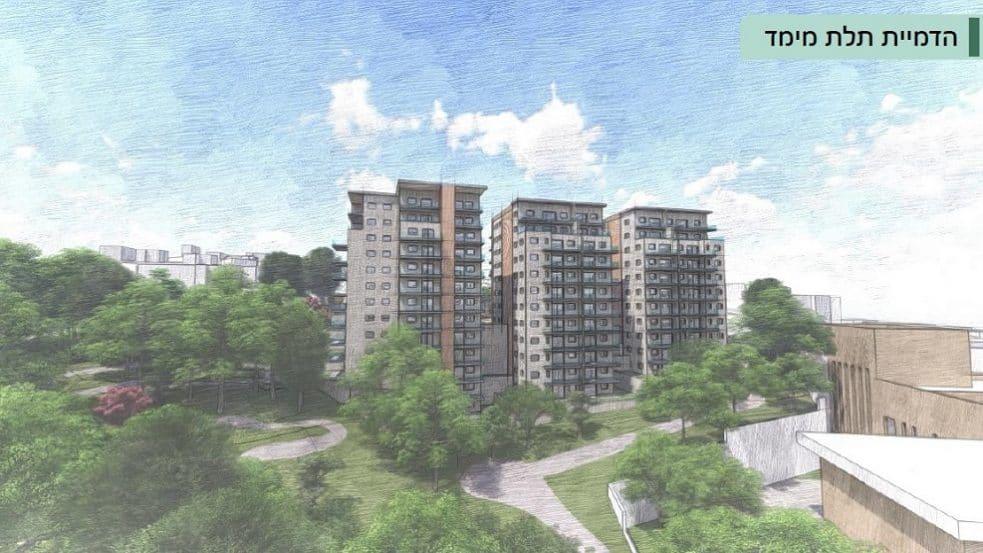הדמיית תוכנית בית הגבעות בית שמש // משרד ארי כהן אדריכלות ובינוי ערים