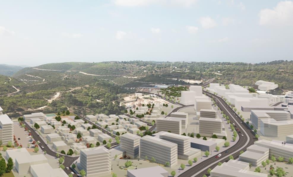הדמיית התכנית שער הכרמל עוספיא // משרד אבירם אדריכלים