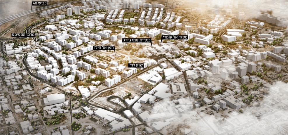 המצב הקיים בעיר העתיקה בלוד // דרמן ורבקל אדריכלים