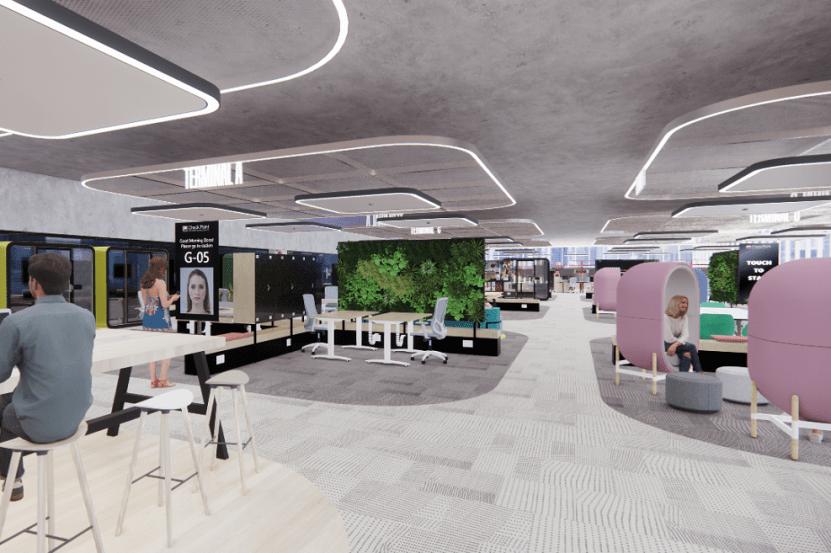 הדמיית משרדי צ'קפוינט // אדריכל נועם מוסקל ואדר' אורי הלוי