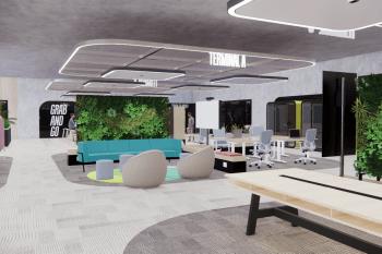 הדמיית משרדי צ'קפוינט // אורבך הלוי אדריכלים