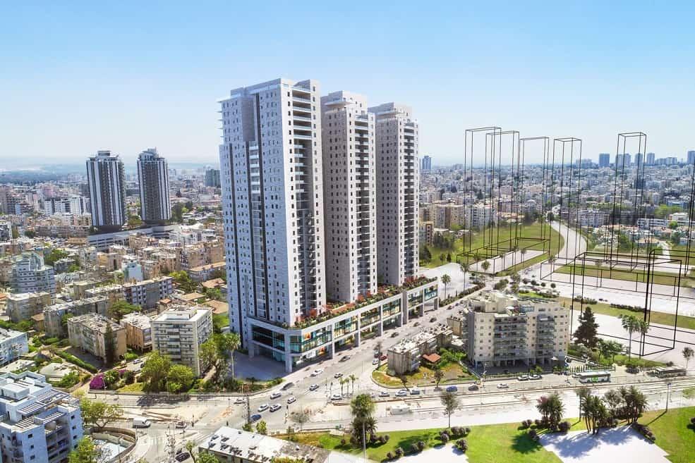 הדמיה מתחם קרול פתח תקוה // משרד צפור אדריכלים ומתכנני ערים