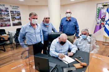 מעמד החתימה // דוברות עיריית נוף הגליל